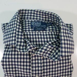 Polo Ralph Lauren Blue Check Shirt I722